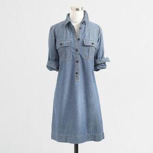 J. Crew Factory Classic Chambray Shirtdress EUC